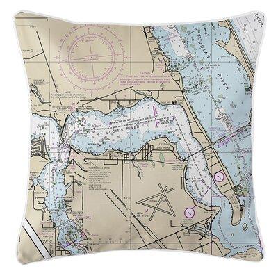 Weidner Sewalls Point FL Nautical Chart Throw Pillow
