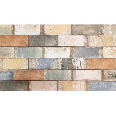 Havana 4 x 8 Porcelain Subway Tile in 5 Color Blend