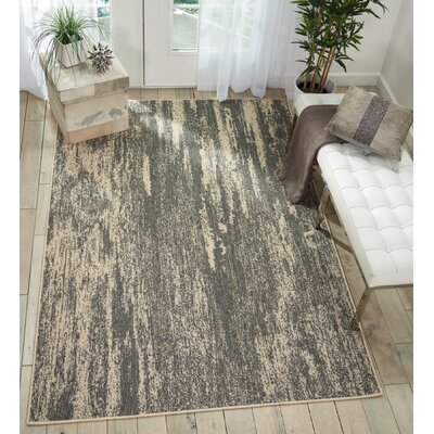 Lido Gray/Cream Indoor/Outdoor Area Rug Rug Size: Rectangle 53 x 75