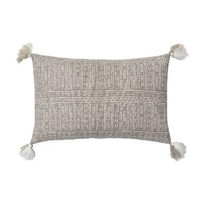Cyrus Cotton Lumbar Pillow Color: Dune