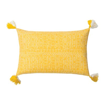 Cyrus Cotton Lumbar Pillow Color: Canary