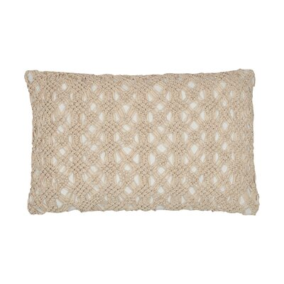 Clyde Cotton Lumbar Pillow Color: Natural