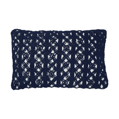 Clyde Cotton Lumbar Pillow Color: Indigo