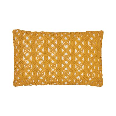 Clyde Cotton Lumbar Pillow Color: Canary