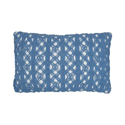 Clyde Cotton Lumbar Pillow Color: Santorini