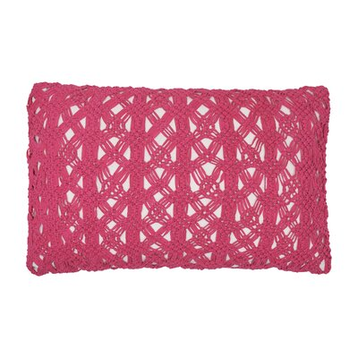 Clyde Cotton Lumbar Pillow Color: Flamingo