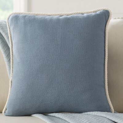 Rope Border Pillow Cover Color: Gray