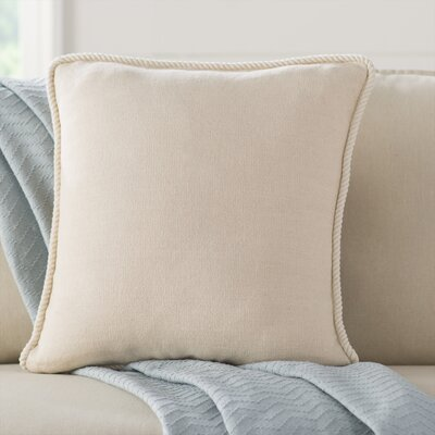 Rope Border Pillow Cover Color: Green