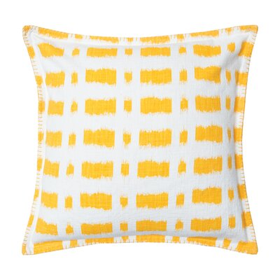 Dash Cotton Throw Pillow Color: Canary