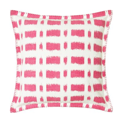 Dash Cotton Throw Pillow Color: Flamingo