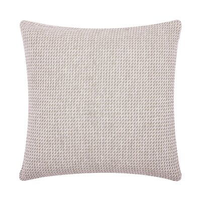 Langford Embroidered Cotton Throw Pillow Color: Dune