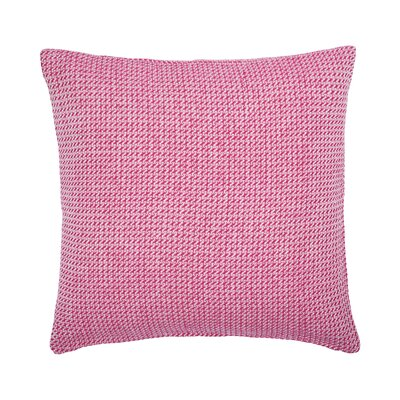 Langford Embroidered Cotton Throw Pillow Color: Flamingo