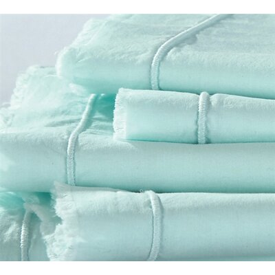Eyelash Textured 200 Thread Count 100% Cotton Sheet Set Size: Full