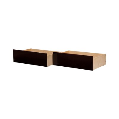 Rasnick Underbed Storage Drawer Size: Twin/Full, Color: Espresso