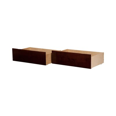 Rasnick Underbed Storage Drawer Size: Twin/Full, Color: Walnut
