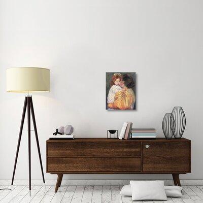 "'Maternal Kiss 1897' by Mary Cassatt Print on Canvas Size: 22"" H x 18"" W x 1.5"" D 74E6731D9C434F0FB893FF79976965A1"