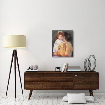 """'Maternal Kiss 1897' by Mary Cassatt Print on Canvas Size: 30"""" H x 24"""" W x 1.5"""" D 4601881917784FCAADE585AAA54DA48F"""