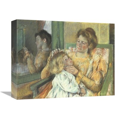 'Mother Combing Her Childs Hair 1898' Print on Canvas GCS-372680-
