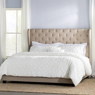 Amir Upholstered Panel Bed Size: King, Color: Beige