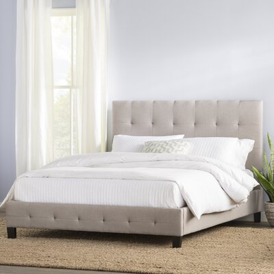 Tiara Upholstered Platform Bed Size: Queen, Color: Bone