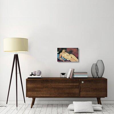 'Reclining Nude Raised on Right Arm' Print on Canvas 00483BEAF11042ABBDD1B183AD79E057