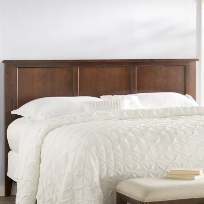 Marjorie Panel Headboard Color: Antique Walnut, Size: King