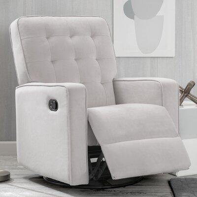 Pirir Manual Glider Recliner Upholstery: Linen