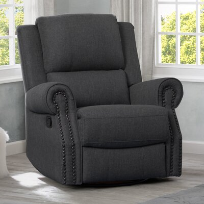 Chazen Manual Glider Recliner Upholstery: Charcoal