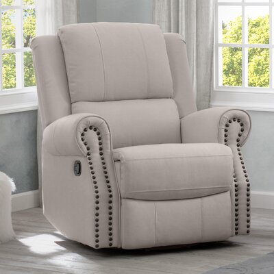 Chazen Manual Glider Recliner Upholstery: Flax