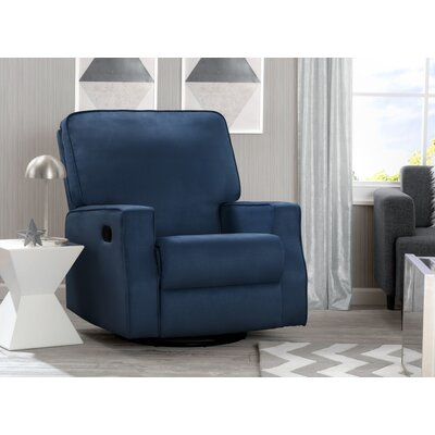 Dutra Manual Glider Recliner Upholstery: Navy