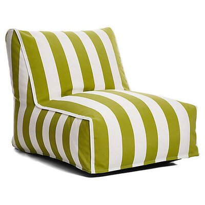 Outdoor Bean Bag Lounger Upholstery: Green/White