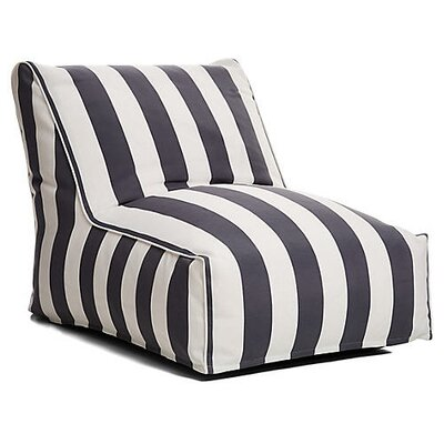 Outdoor Bean Bag Lounger Upholstery: Gray/White