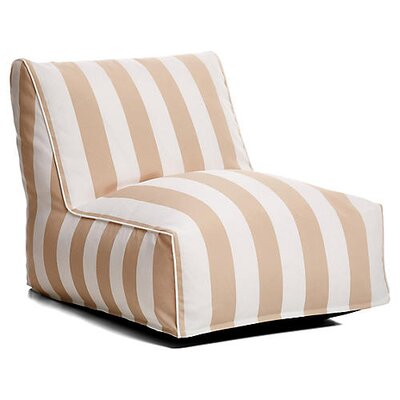 Outdoor Bean Bag Lounger Upholstery: Beige/White