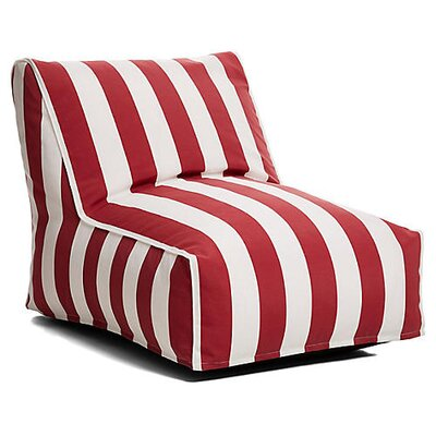 Outdoor Bean Bag Lounger Upholstery: Burgandy/White