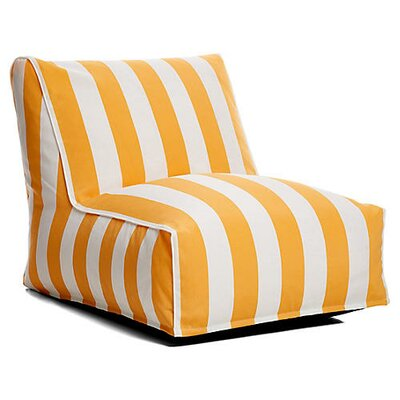 Outdoor Bean Bag Lounger Upholstery: Yellow/White