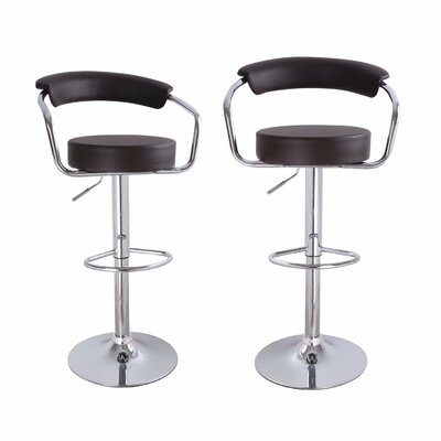 Konivetska Adjustable Height Swivel Bar Stool