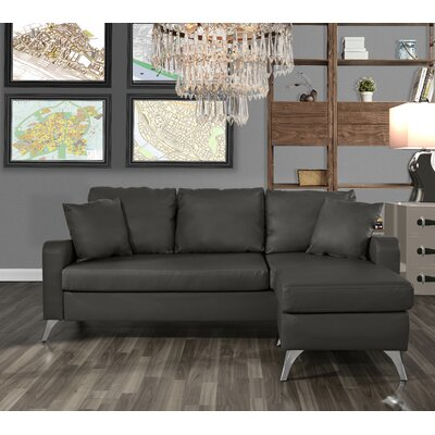 Mehrotra Configurable Sectional Upholstery: Dark Gray