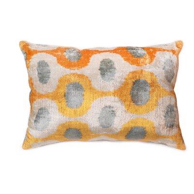 Ikat Lumbar Pillow Pillow Cover Color: Gold, Size: 15 x 24
