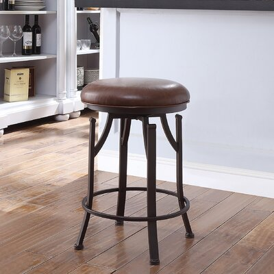 Chused 24 Swivel Bar Stool Color: Brown/Bronze
