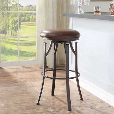 Chused 30 Swivel Bar Stool Color: Brown/Bronze
