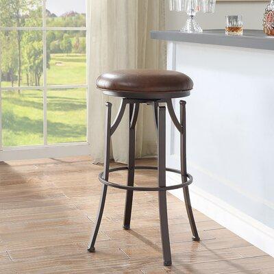 Chused 30 Swivel Bar Stool Color: Brown/Bronze