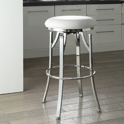 Chused 30 Swivel Bar Stool Color: White/Chrome