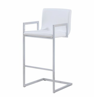 Pinella 30 Bar Stool Upholstery Color: White