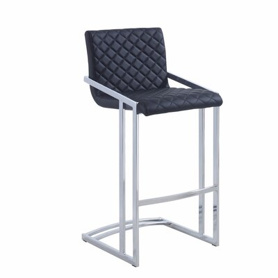 Sieger 30 Bar Stool Upholstery Color: Black