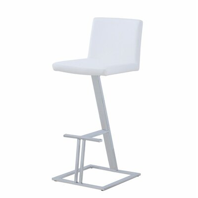 Bobek 30 Bar Stool Upholstery Color: White