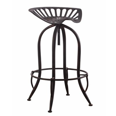 Mccloud Adjustable Height Swivel Bar Stool