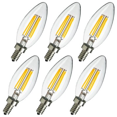 4W E12 LED Edison Candle Light Bulb