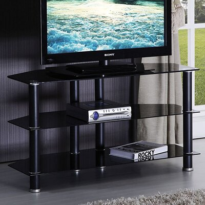 Keindl Modern Tempered Glass Top Swivel 42 TV Stand