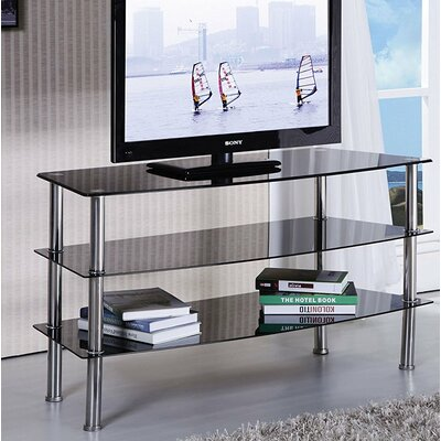 Keindl Modern Tempered Glass Top 55 TV Stand