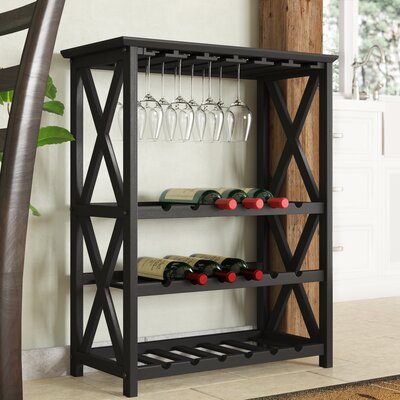 Northumberland X Style 18 Bottle Floor Wine Rack Finish: Espresso